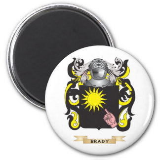 Escudo de armas de Brady (escudo de la familia) Imán Redondo 5 Cm