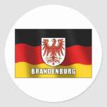 Escudo de armas de Brandeburgo Pegatina Redonda