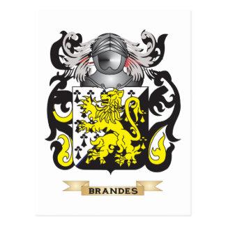 Escudo de armas de Brandes (escudo de la familia) Postal