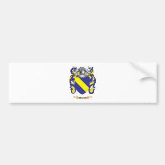 Escudo de armas de Braun (escudo de la familia) Pegatina De Parachoque