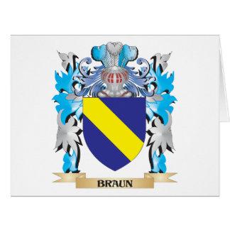 Escudo de armas de Braun Tarjeta De Felicitación Grande