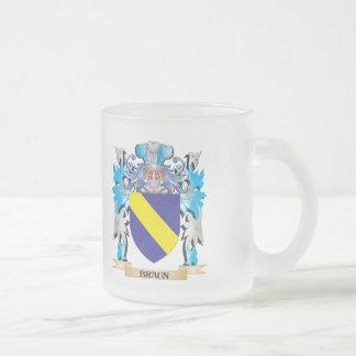 Escudo de armas de Braun Taza Cristal Mate
