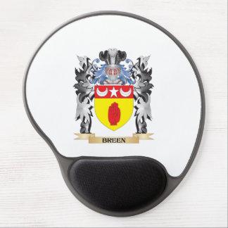 Escudo de armas de Breen - escudo de la familia Alfombrillas De Raton Con Gel
