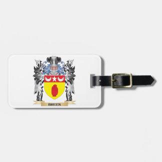 Escudo de armas de Breen - escudo de la familia Etiqueta De Equipaje