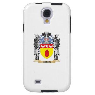 Escudo de armas de Breen - escudo de la familia Funda Para Galaxy S4