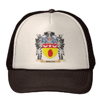 Escudo de armas de Breen - escudo de la familia Gorra