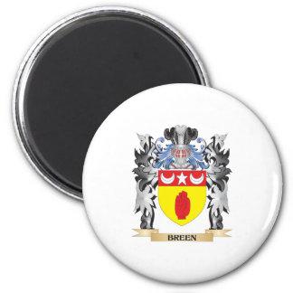 Escudo de armas de Breen - escudo de la familia Imán Redondo 5 Cm