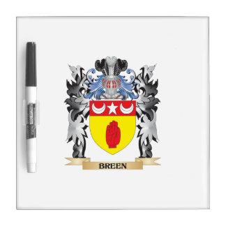 Escudo de armas de Breen - escudo de la familia Pizarra Blanca