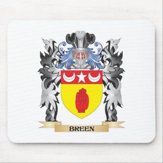 Escudo de armas de Breen - escudo de la familia Alfombrillas De Ratones