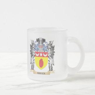 Escudo de armas de Breen - escudo de la familia Taza Cristal Mate