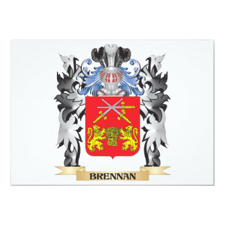 """Escudo de armas de Brennan - escudo de la familia Invitación 5"""" X 7"""""""