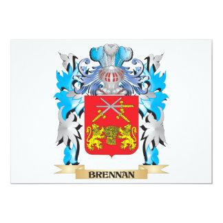 "Escudo de armas de Brennan Invitación 5"" X 7"""