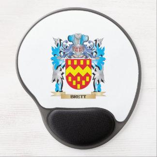 Escudo de armas de Brett Alfombrillas De Raton Con Gel