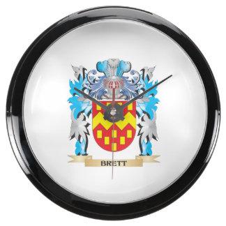 Escudo de armas de Brett Reloj Acuario