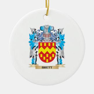 Escudo de armas de Brett Ornamentos Para Reyes Magos