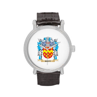 Escudo de armas de Brett Relojes De Mano