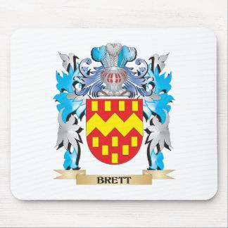 Escudo de armas de Brett Tapetes De Raton