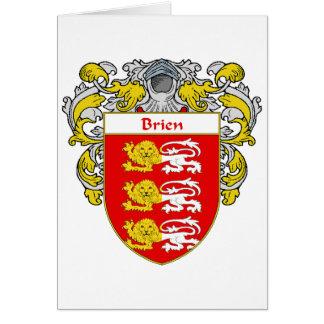 Escudo de armas de Brien (cubierto) Tarjeta De Felicitación