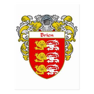 Escudo de armas de Brien (cubierto) Tarjetas Postales