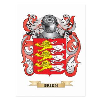 Escudo de armas de Brien (escudo de la familia) Postal