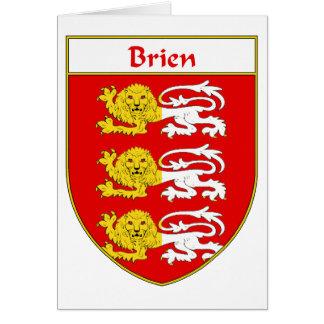 Escudo de armas de Brien/escudo de la familia Tarjeta De Felicitación