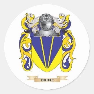 Escudo de armas de Brine escudo de la familia Etiqueta