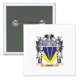 Escudo de armas de Brine - escudo de la familia Pin Cuadrada 5 Cm