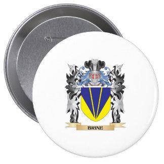 Escudo de armas de Brine - escudo de la familia Pin Redondo 10 Cm