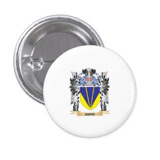 Escudo de armas de Brine - escudo de la familia Pin Redondo 2,5 Cm