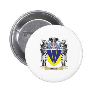 Escudo de armas de Brine - escudo de la familia Pin Redondo 5 Cm