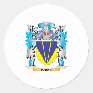 Escudo de armas de Brine Pegatina Redonda