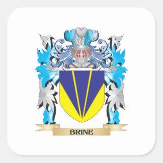 Escudo de armas de Brine Calcomanía Cuadradas Personalizada