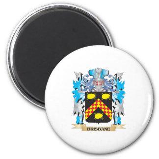 Escudo de armas de Brisbane Imán Redondo 5 Cm