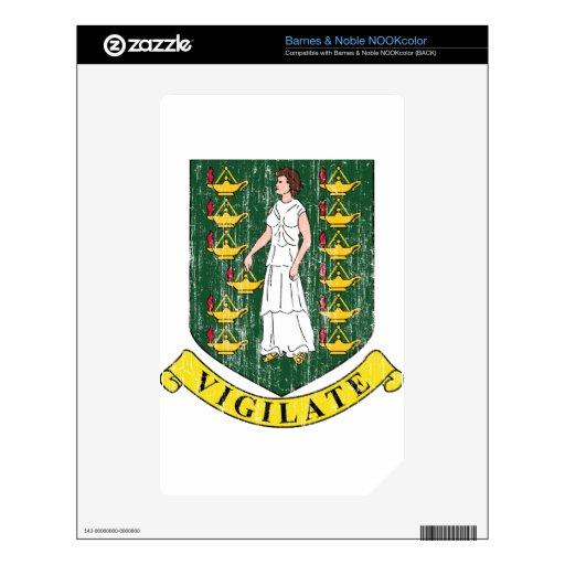 Escudo de armas de British Virgin Islands Skin Para El NOOK Color
