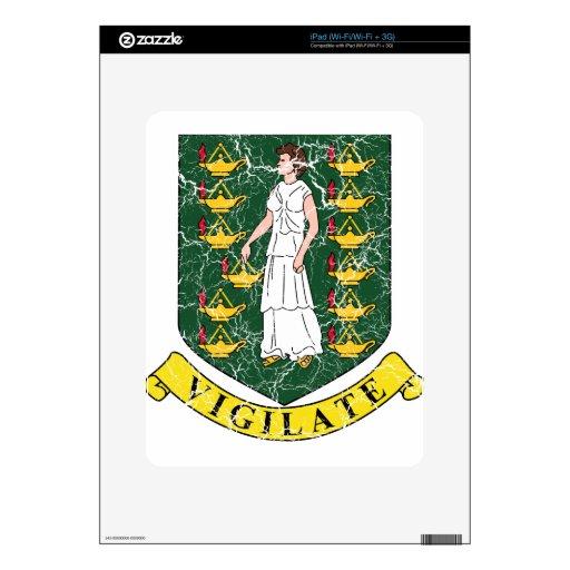 Escudo de armas de British Virgin Islands Calcomanía Para El iPad