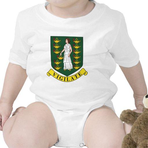 Escudo de armas de British Virgin Islands Camiseta