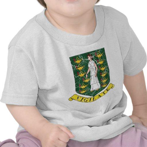 Escudo de armas de British Virgin Islands Camisetas