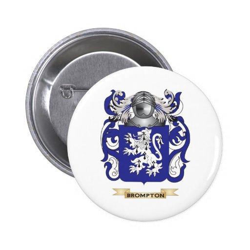 Escudo de armas de Brompton (escudo de la familia) Pins