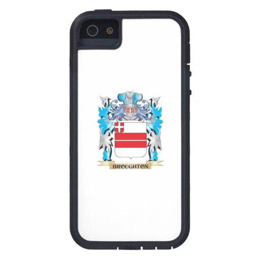 Escudo de armas de Broughton iPhone 5 Case-Mate Carcasa