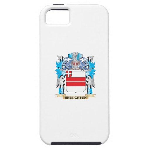 Escudo de armas de Broughton iPhone 5 Case-Mate Cárcasas