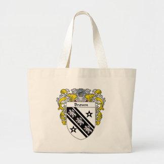 Escudo de armas de Brown (cubierto) Bolsas De Mano