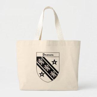 Escudo de armas de Brown/escudo de la familia Bolsa Tela Grande