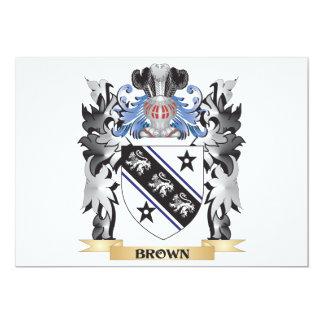 """Escudo de armas de Brown - escudo de la familia Invitación 5"""" X 7"""""""