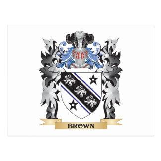 Escudo de armas de Brown - escudo de la familia Postal