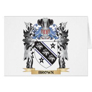 Escudo de armas de Brown - escudo de la familia Tarjeta De Felicitación