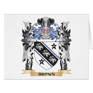 Escudo de armas de Brown - escudo de la familia Tarjeta De Felicitación Grande