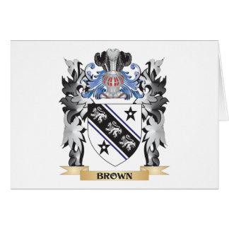 Escudo de armas de Brown - escudo de la familia Tarjeta Pequeña