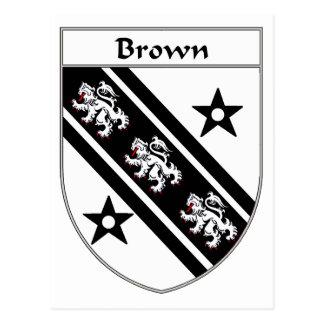 Escudo de armas de Brown/escudo de la familia Tarjeta Postal