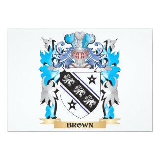 """Escudo de armas de Brown Invitación 5"""" X 7"""""""