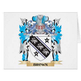 Escudo de armas de Brown Tarjeta De Felicitación Grande
